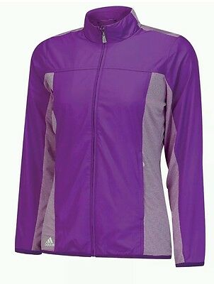 ADIDAS - Womens Microstripe Wind Jacket. Purple. Size:Small BNWT