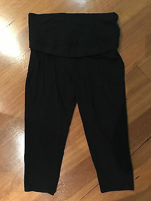 Target Collection Black Cropped Maternity Leggings - Size 12