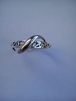 twisted celtic ring sterling silver ladies / girls thumb finger various sizes