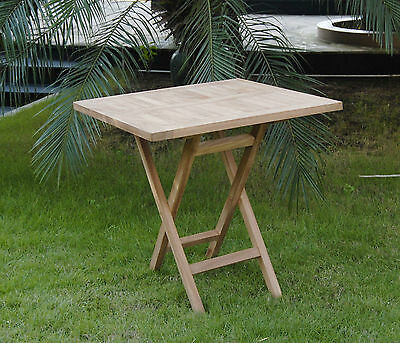 New 80cm Teak Wood Folding Solid Table Square Garden Furniture BBQ Outdoor Patio