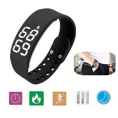 3D Smart Pedometer Bracelet Wrist Watch Step Walking Calorie Counter Tracker UK