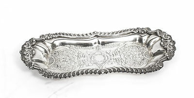 Gorgeous Silver Plated Victorian Pen Card Tray