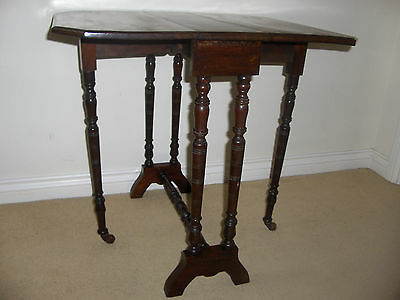 Sutherland Edwardian Mahogany Drop Leaf Side / Occasional Table