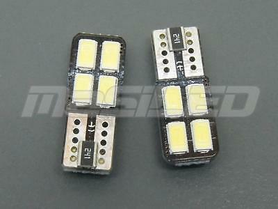 2 bombillas LED Canbus T10 W5W 4 SMD 5630 color blanco puro 5000K
