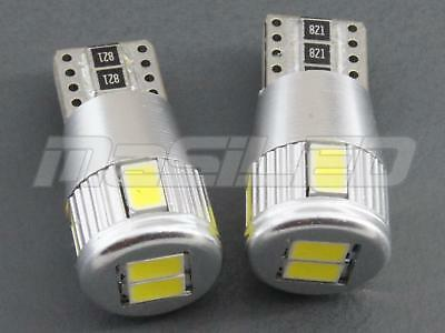 2 bombillas LED Canbus T10 W5W 6 SMD 5630 color blanco puro 5000K