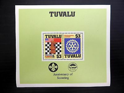TUVALU Wholesale 1986 Chess & Rotary Anni of Scouting Perforated SEE BELOW NB833