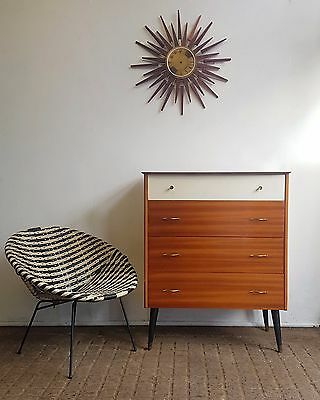 Retro Mid Century Teak Chest Of Drawers