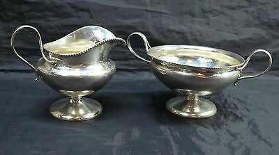 Very Rare Antique Duhme & Co Creamer & Sugar 925 Sterling Silver Approx 216 Gram
