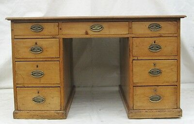 A Victorian Pine Partners Desk(delivery available)