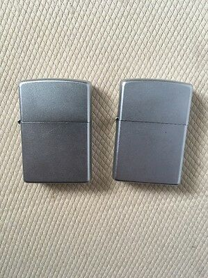 Zippo Full Size Satin Chrome Finish Lighter Lot of 2 Free Shipping!