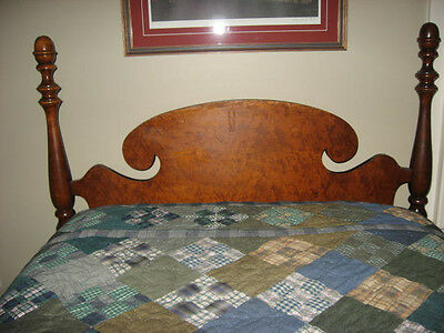 Antique low post twin beds. (PR) Curly Maple Veneer, early1900's
