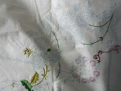 Vintage Small  Tablecloth to finish embroidering 37ins by 37ins approx.