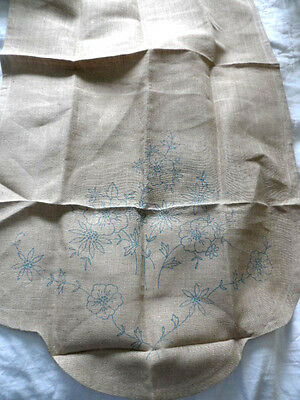 Vintage Linen Chair Back or Antimacassar  to embroider