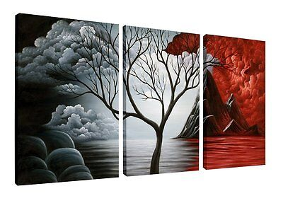 Home Wall Decor 3 Panels Canvas Print Art Framed Abstract Landscape Oil Painting