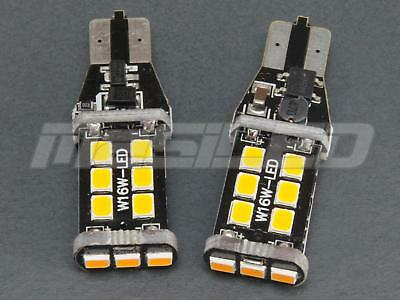 2 bombillas LED Canbus T15 W16W 15 SMD 2835 color naranja