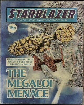 The Megaloi Menace,starblazer Space Fiction Adventure In Pictures,no.94,1983