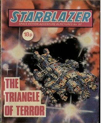 The Triangle Of Terror,starblazer Space Fiction Adventure In Pictures,no.97,1983