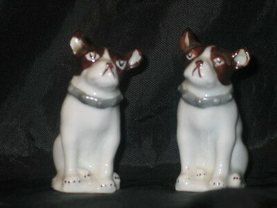 Pair Of Antique Dog Salt And Pepper Shakers Made In Czeckoslovakia