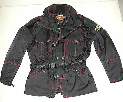 Harley-Davidson Mens 3PC Black Touring Motorcycle Rain Suit, Size:M