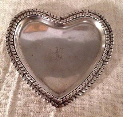 Tiffany & Co. Antique Sterling Silver Heart Shaped Dish