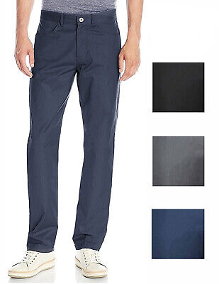 Calvin Klein Mens Textured Twill Cotton Straight Fit Pants