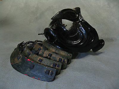 Real Japanese Lacquered Tengu Menpo Samurai Face Guard Mask Long Nose in Edo Era