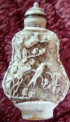 Vintage/antique chinese carved scent/snuff bottle