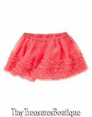 Nwt Gymboree Palm Beach Paradise Tulle Ruffle Tutu Skirt Girls 2T