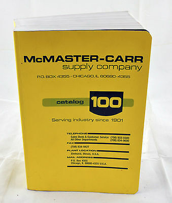 Vintage McMaster-Carr Supply Company Catalog Number 100