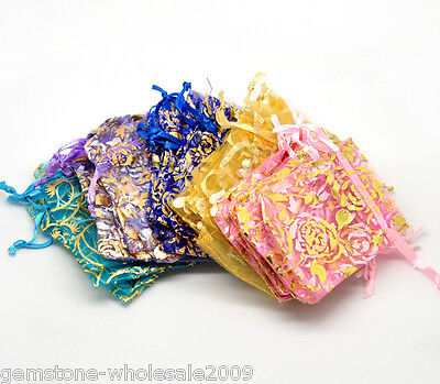 Wholesale 9x7cm Mixed Organza Gift Bags Draw String For Jewelry Beads Gift GW