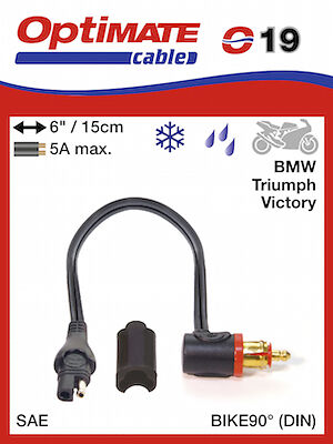 Optimate Adapter SAE to BIKE 90° plug (019) UK Supplier & Warranty NEW
