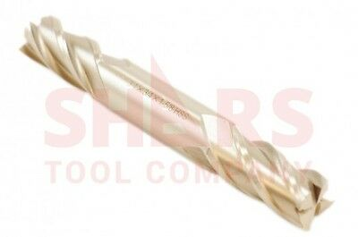 """7/16"""" 4 FLUTE DOUBLE END SOLID CARBIDE END MILL 7/16 x 7/16 x 5/8 x 3 USA MADE"""
