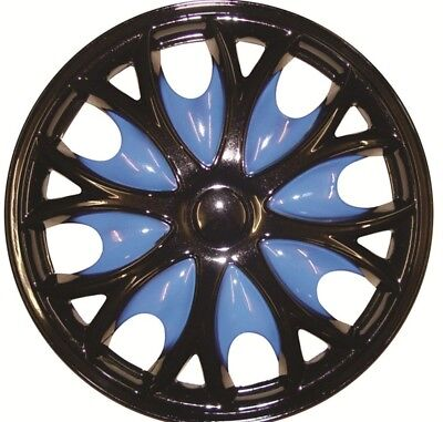 Ford Tourneo Connect 15 Inch Black Blue Wheel Trims (2002-2016)