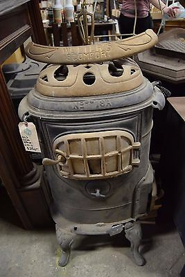 Antique Wetter's No. 18A Comfort Cast Iron Wood Burning Stove