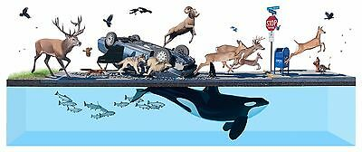Stampede Art Print Josh Keyes with COA, Signed and Numbered