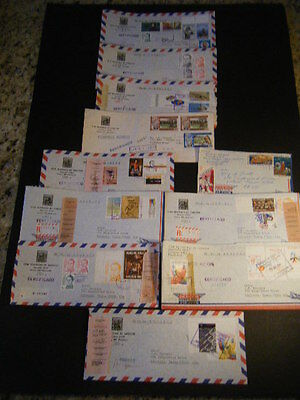 11 1979/84 Colorful Commercial Covers incl. Regist. - Venezuela to Victoria, TX