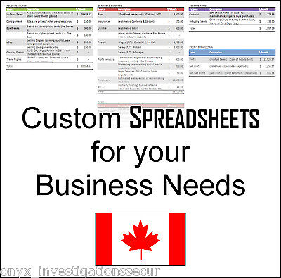 Spreadsheet Design Pkg Customized for Your Business Needs