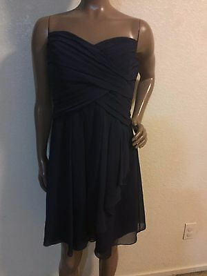 Women's size 12 David's Bridal navy blue short style formal party prom dress