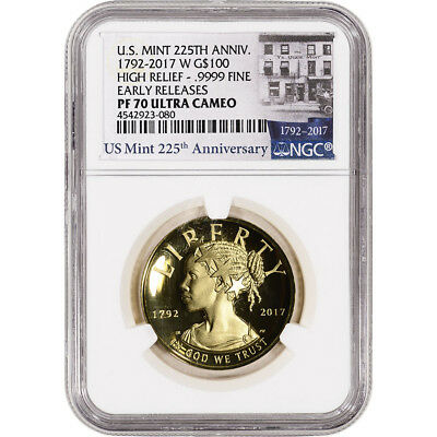 2017-W American Liberty Gold High Relief (1 oz) Proof $100 NGC PF70 ER