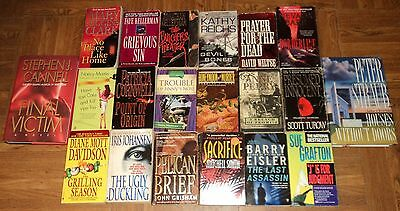 SUSPENSE / THRILLER BOOK COLLECTION - Lot of 20 - Lots of Great Thriller Reading