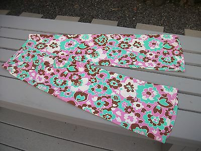 Vintage Floral 70's? Bellbottom Pants 7-8