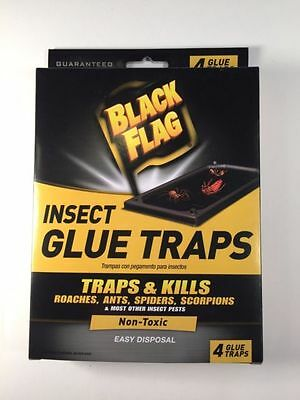 20 Black Flag Insect Glue Traps For Roaches, Spiders, Ants, Scorpions And More!