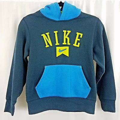Nike Youth Pullover Hoodie Jumpers Size M 10-12 Years Navy Blue/Light Blue