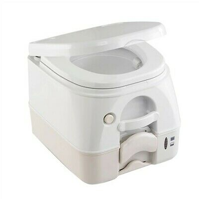 Dometic 974 Portable Toilet 2.6 Gal Tan W/ Brackets