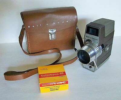 Vintage 8 mm Movie Camera Leather Carry Case Instructions & Kodachrome 40 Film