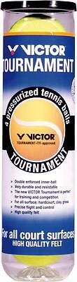 VICTOR Tennisball Turnier Tournament gelb 4er Dose Spielball Sand Indoor Outdoor