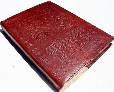 Handmade Leather Refillable Tree Of Life Journal Diary Notebook Great Gift
