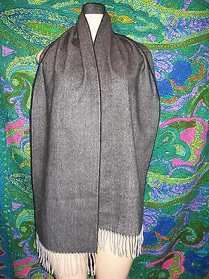 100% Cashmere Scarf Made In Scotland Gray Solid