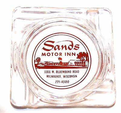 Vintage The Sands Wisconsin Motor Inn Hotel Motel Glass Ashtray Not Casino Vegas