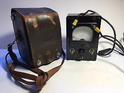 Bell Telephone System Megohms Ohms Points Meter With Leather Case